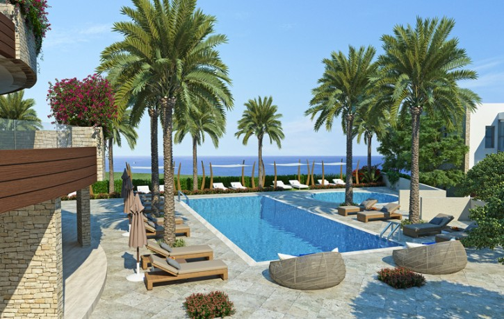 3InvestmentLand_Developtment_CoralBay_Peyia_Cyprus_apartments-pool-view2_